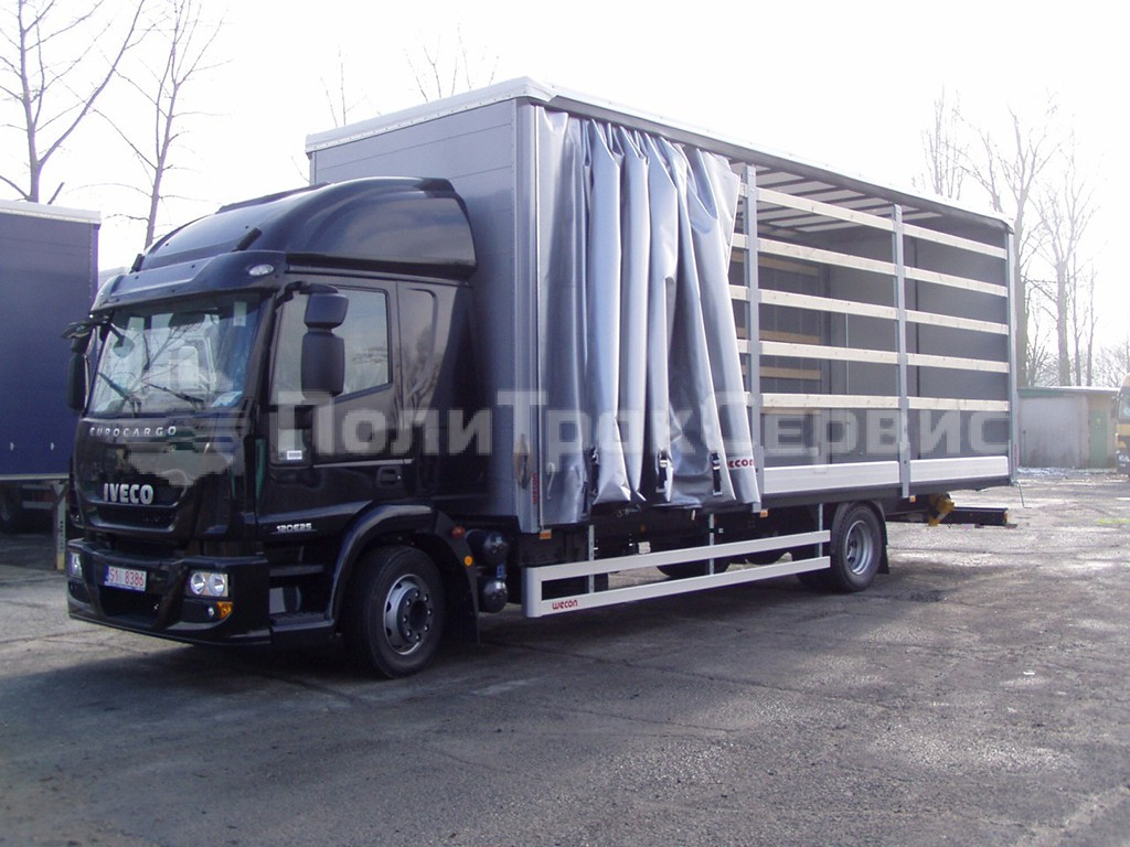 <h2>Шторный кузов Wecon на базе шасси Iveco Eurocargo ML180E28/P</h2>